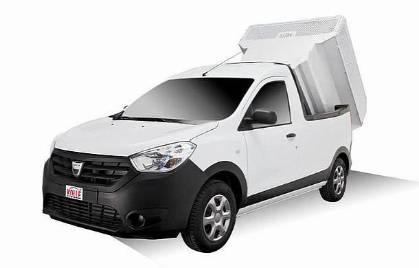 dacia dokker converted into pick up dump truck autoevolution. Black Bedroom Furniture Sets. Home Design Ideas