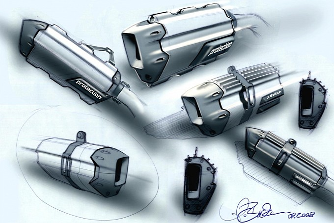 2013 BMW R 1200 GS exhaust sketch