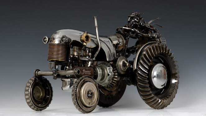 Recycled Car Parts Turn Art