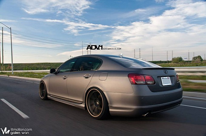 Matte Gray Lexus GS on ADV.1s