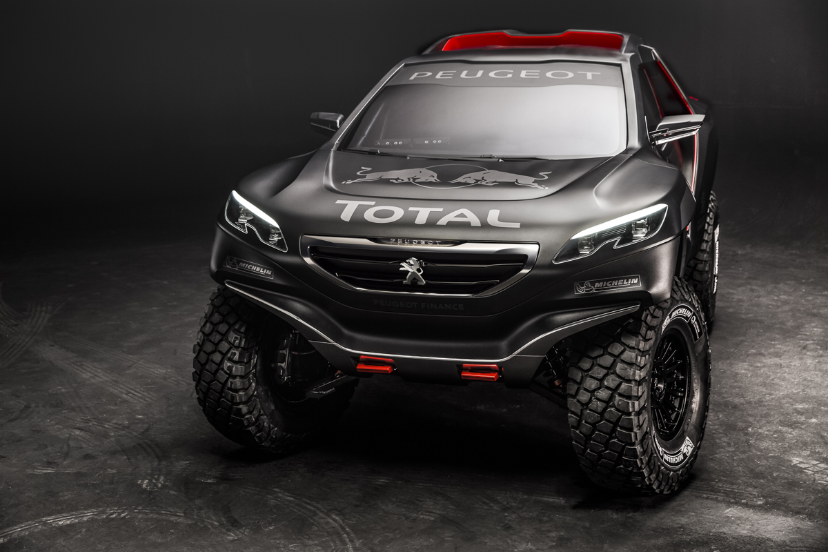 menacing peugeot 2008 dkr is powered by a 340 hp twin. Black Bedroom Furniture Sets. Home Design Ideas