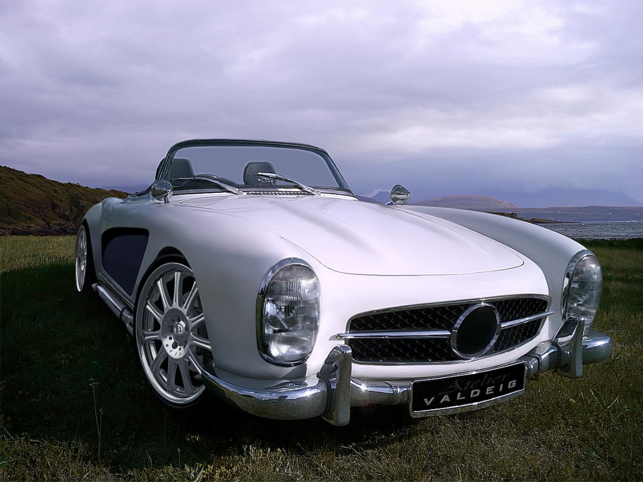 mercedes 300 sl roadster with wide body kit autoevolution. Black Bedroom Furniture Sets. Home Design Ideas