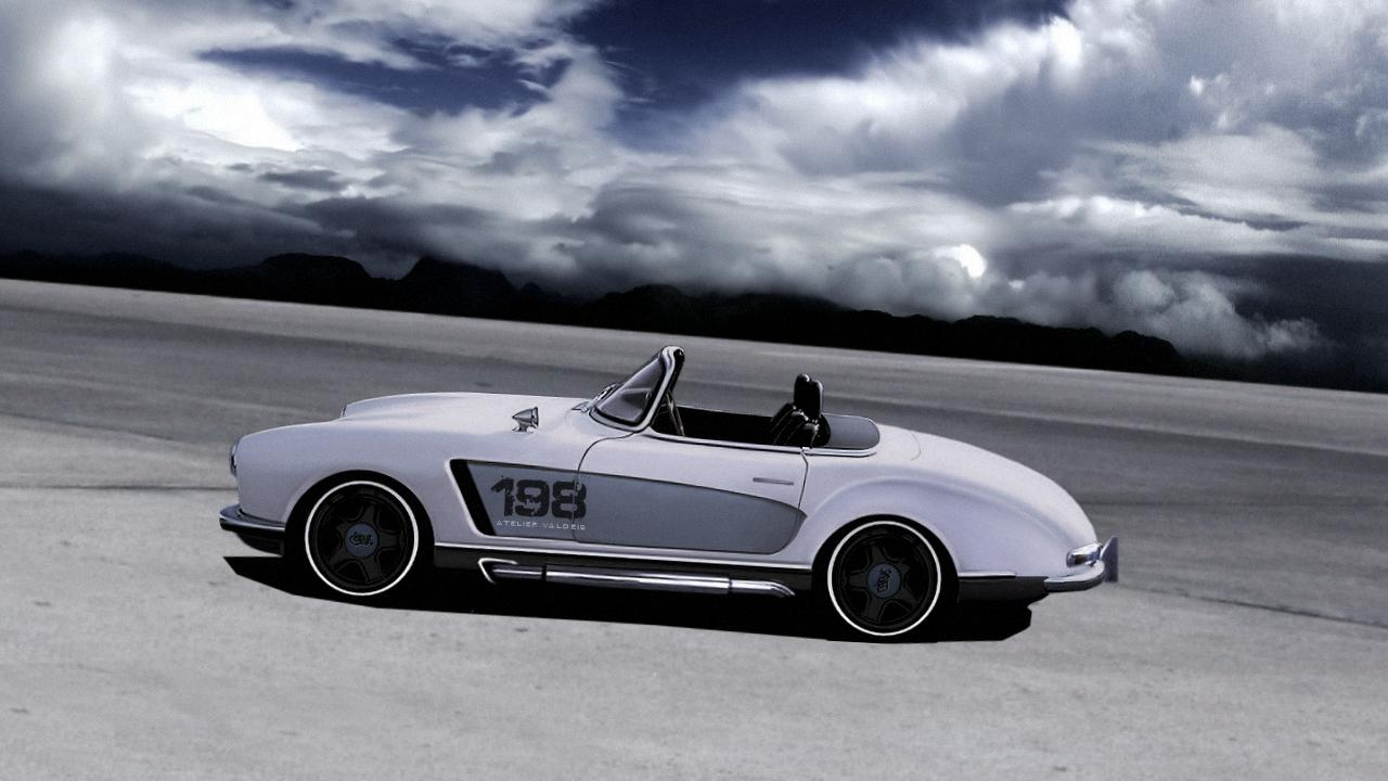Mercedes 300 SL Roadster With Wide Body Kit - autoevolution