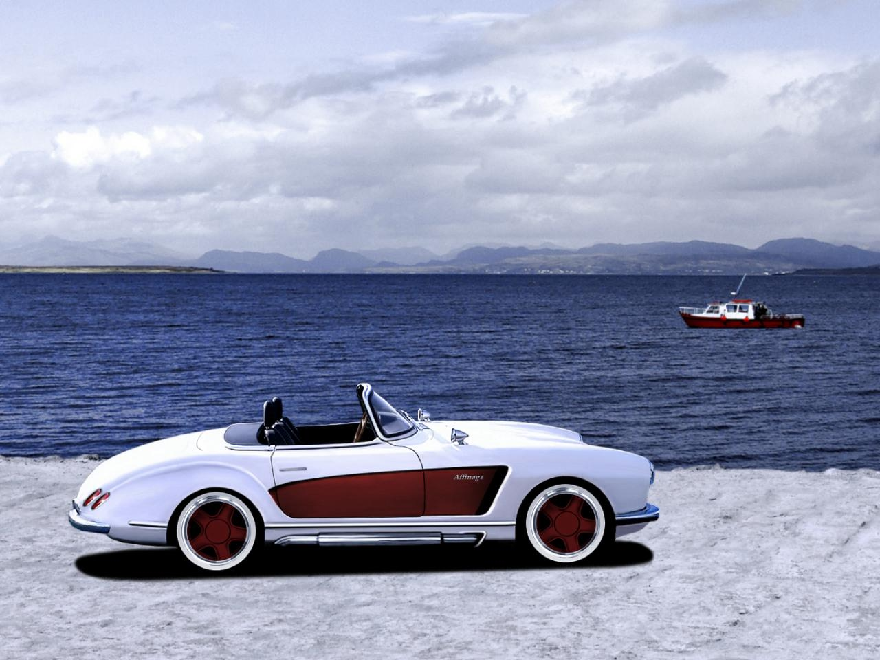 Mercedes Sl Roadster With Wide Body Kit Photo Gallery