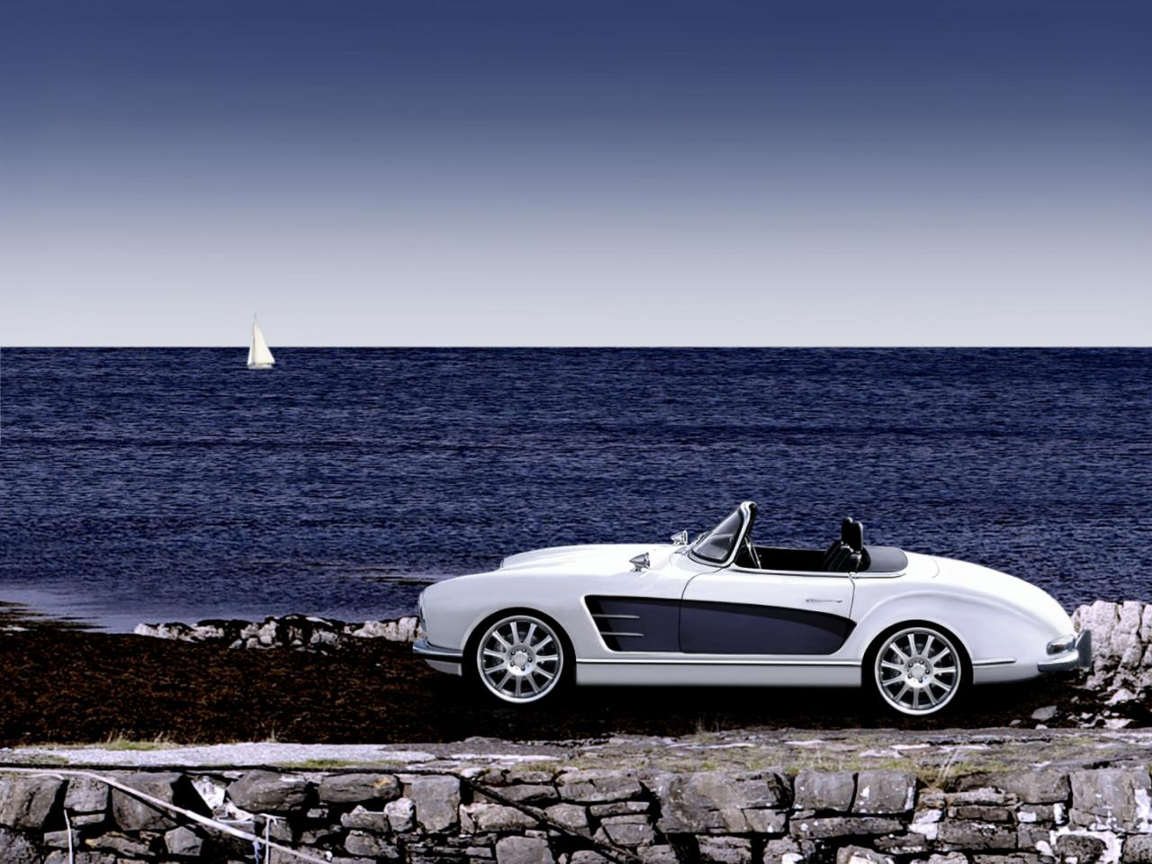 Mercedes 300 sl roadster with wide body kit autoevolution for Mercedes benz exterior car care kit