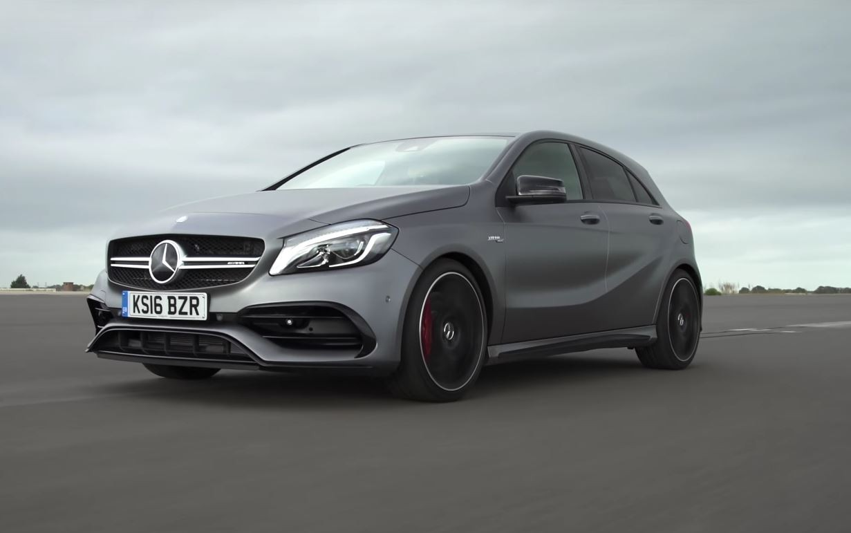 mercedes amg a45 drag races civic type r to reveal huge performance gap autoevolution. Black Bedroom Furniture Sets. Home Design Ideas