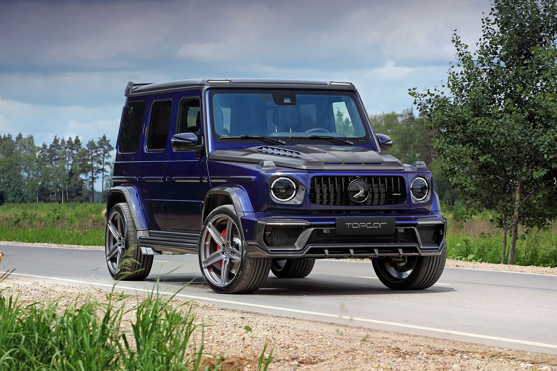 Mercedes Amg G63 Gets Inferno Blue Carbon Treatment From