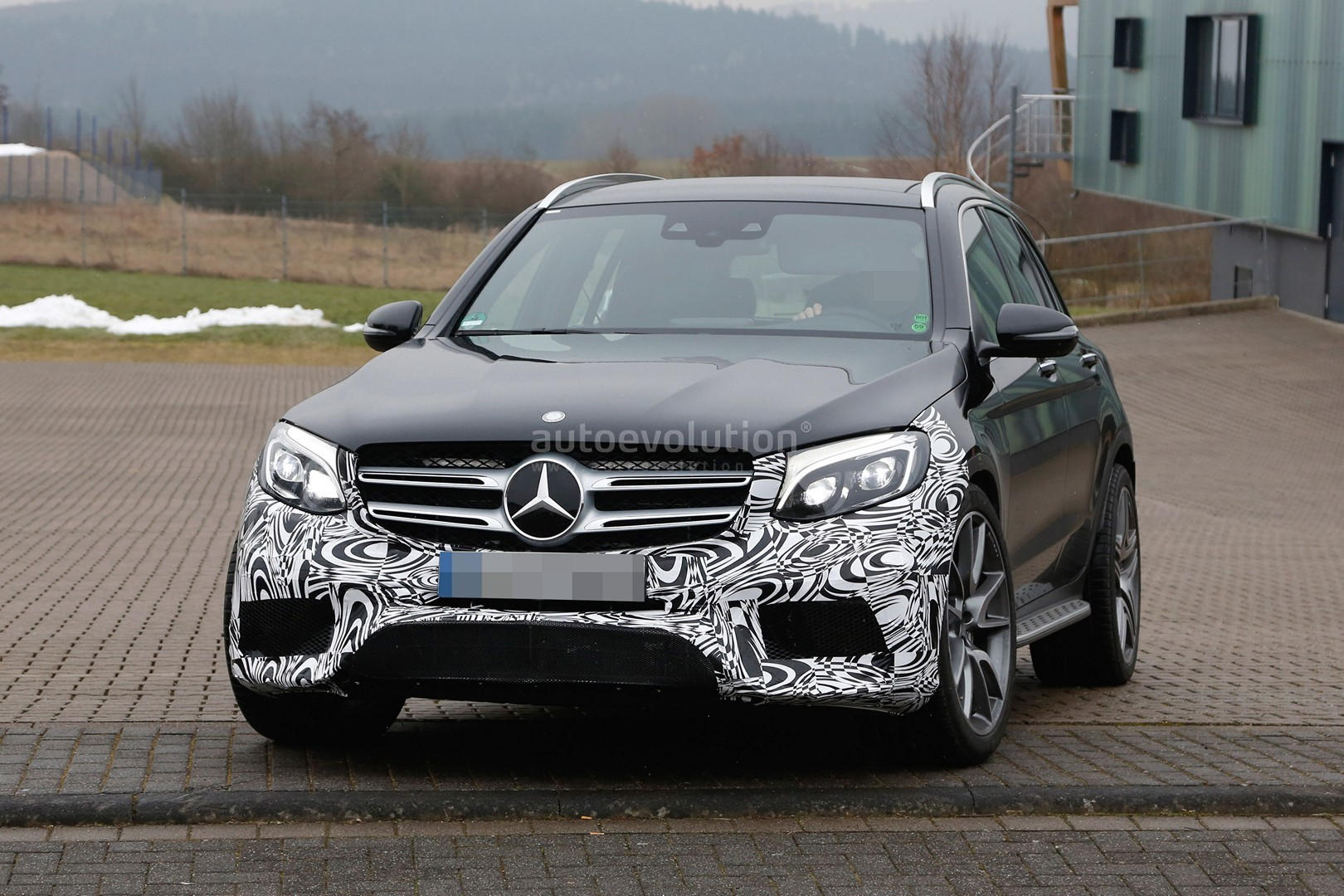 Mercedes Amg Glc 63 Test Prototype Seen For The First Time