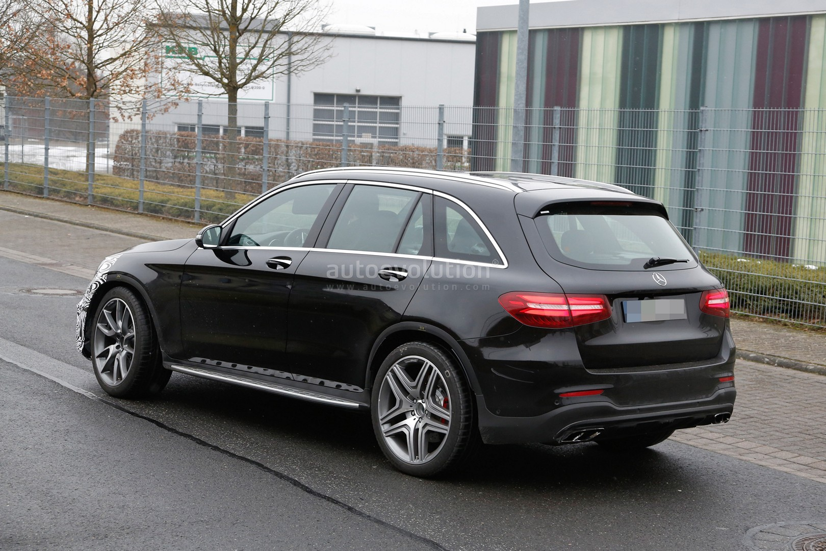 mercedes amg glc 63 test prototype seen for the first time. Black Bedroom Furniture Sets. Home Design Ideas