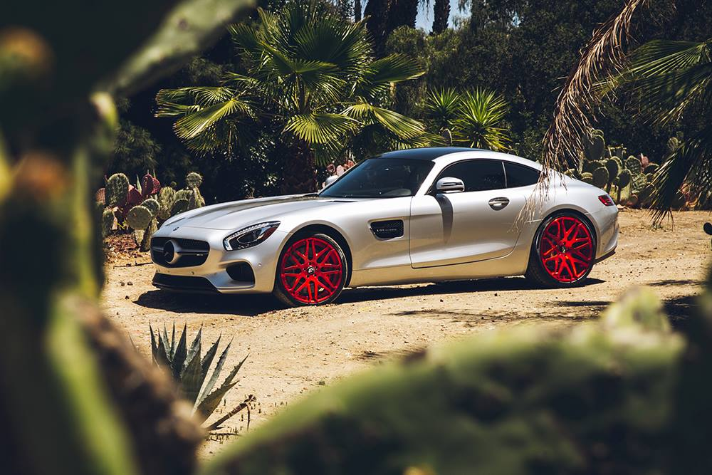 Mercedes Amg Gt Gets Candy Red Forgiato Wheels Autoevolution