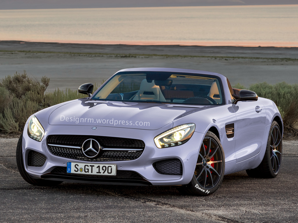 mercedes amg gt roadster not likely but here 39 s a rendering autoevolution. Black Bedroom Furniture Sets. Home Design Ideas
