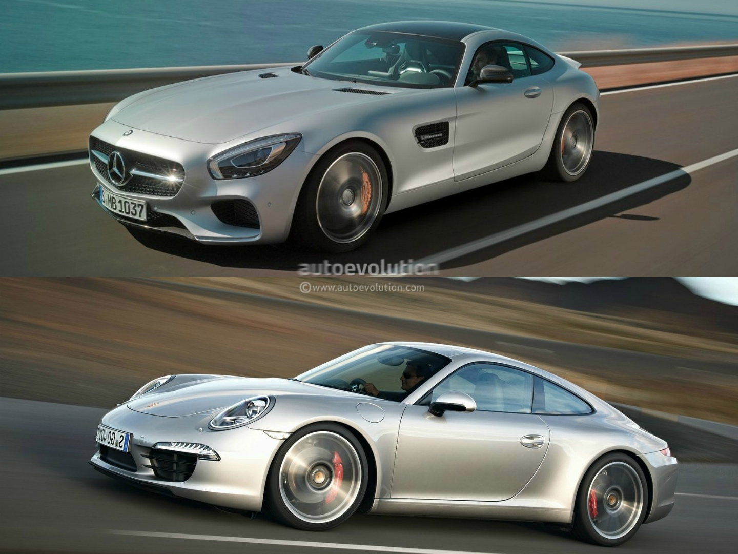 mercedes benz amg gt vs porsche 911 photo comparison autoevolution. Black Bedroom Furniture Sets. Home Design Ideas