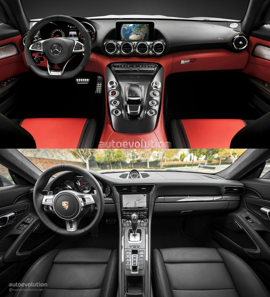 Mercedes Benz Amg Gt Vs Porsche 911 Photo Comparison