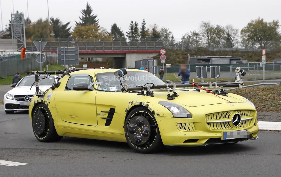 mercedes benz sls amg electric drive makes odd 39 ring comeback cladded in sensors autoevolution. Black Bedroom Furniture Sets. Home Design Ideas