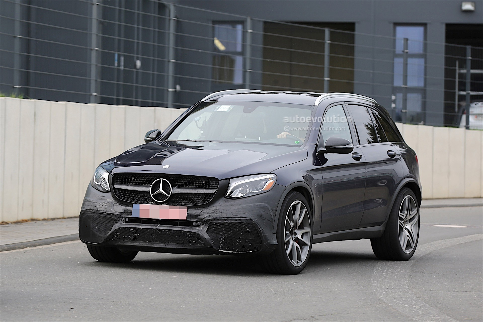 mercedes-amg testing new glc 63 almost undisguised