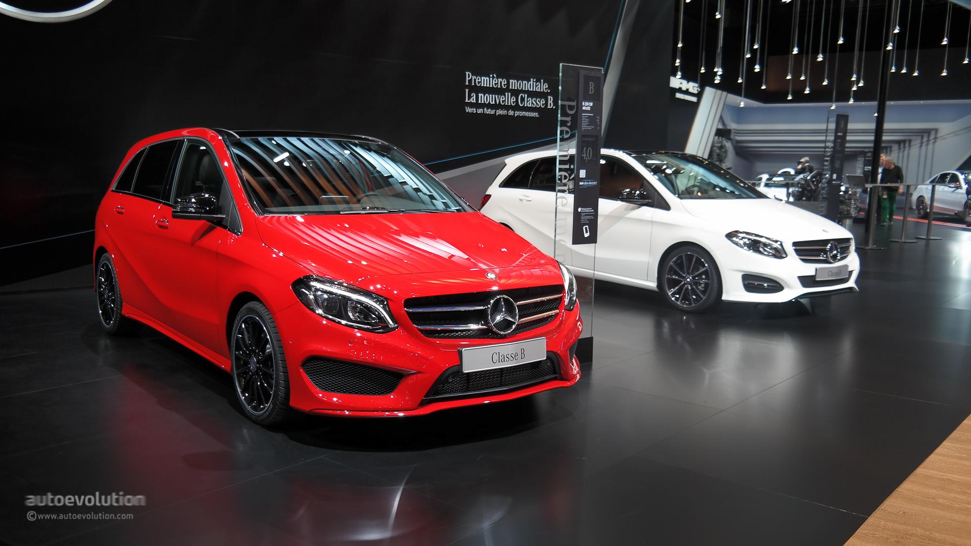 Mercedes b class facelift debuts at paris motor show 2014 for A to b motors