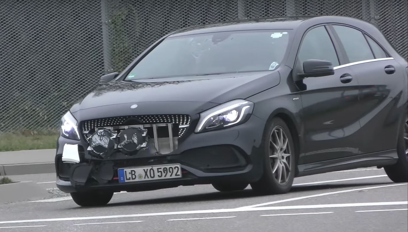 mercedes benz a class prototype has too many badges in. Cars Review. Best American Auto & Cars Review