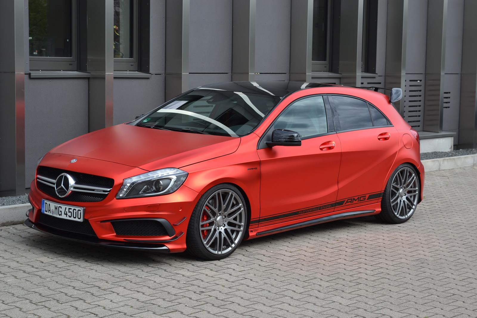 Mercedes Benz A45 Amg Gets Wrapped In Wonderful Red Matte