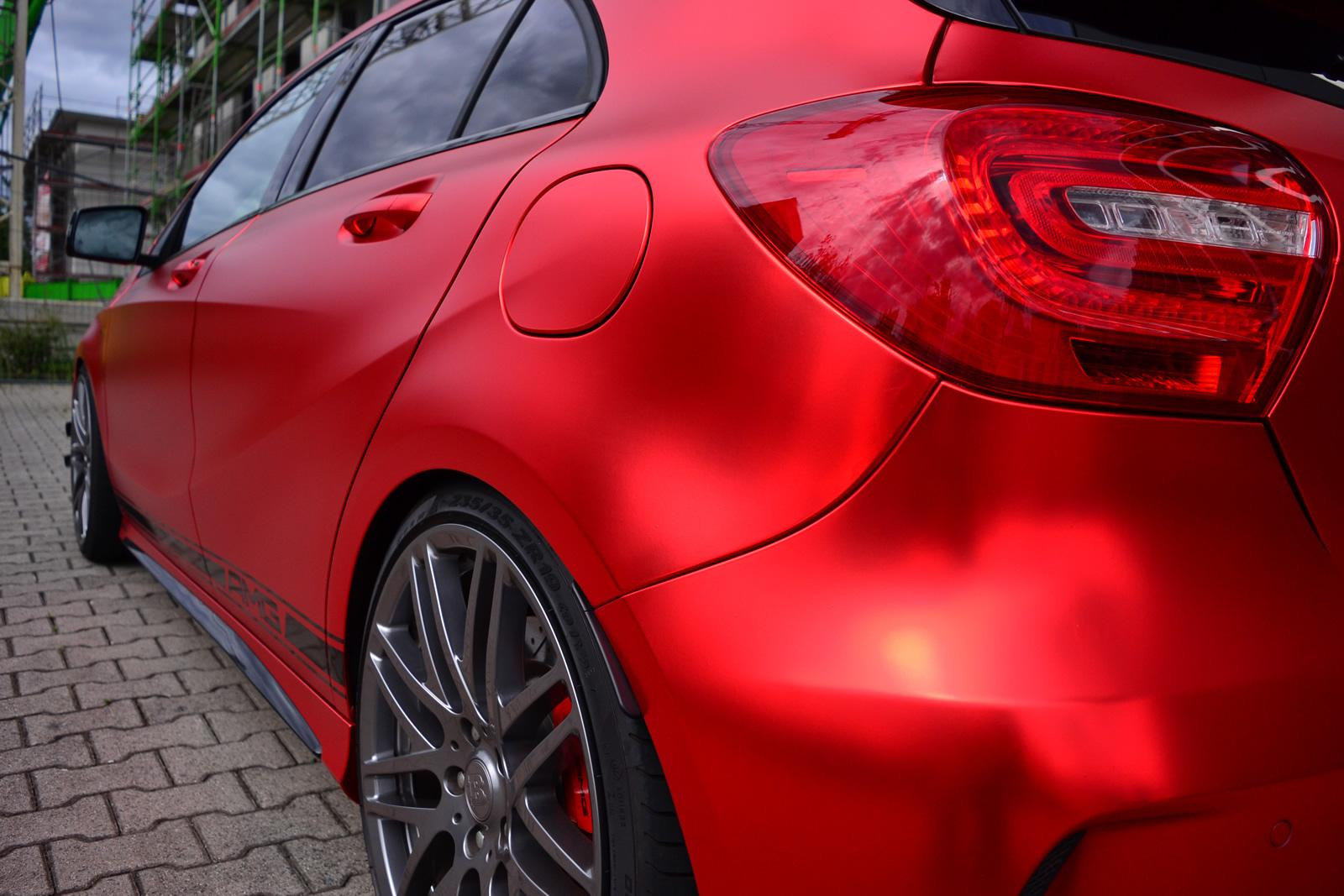 mercedes a45 amg benz matte foil folien wrapped experte wonderful gets boosted hp autoevolution carsinvasion tuning into