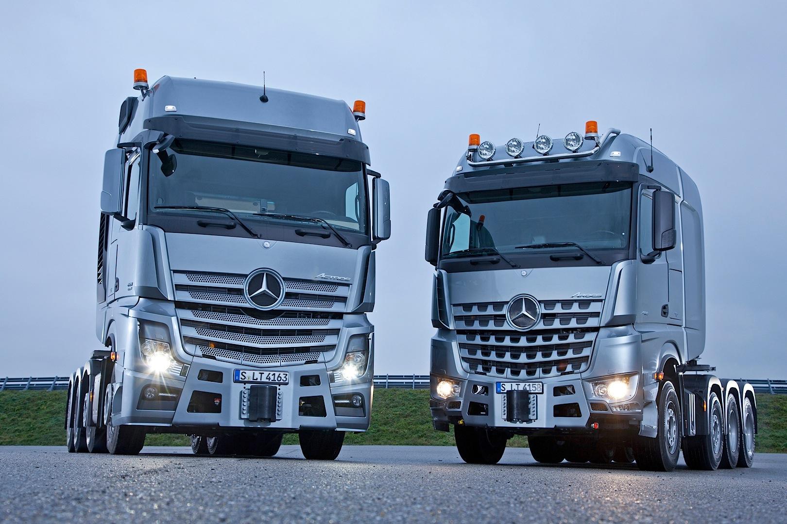 мерседес грузовые автомобили фото новые зимняя улица