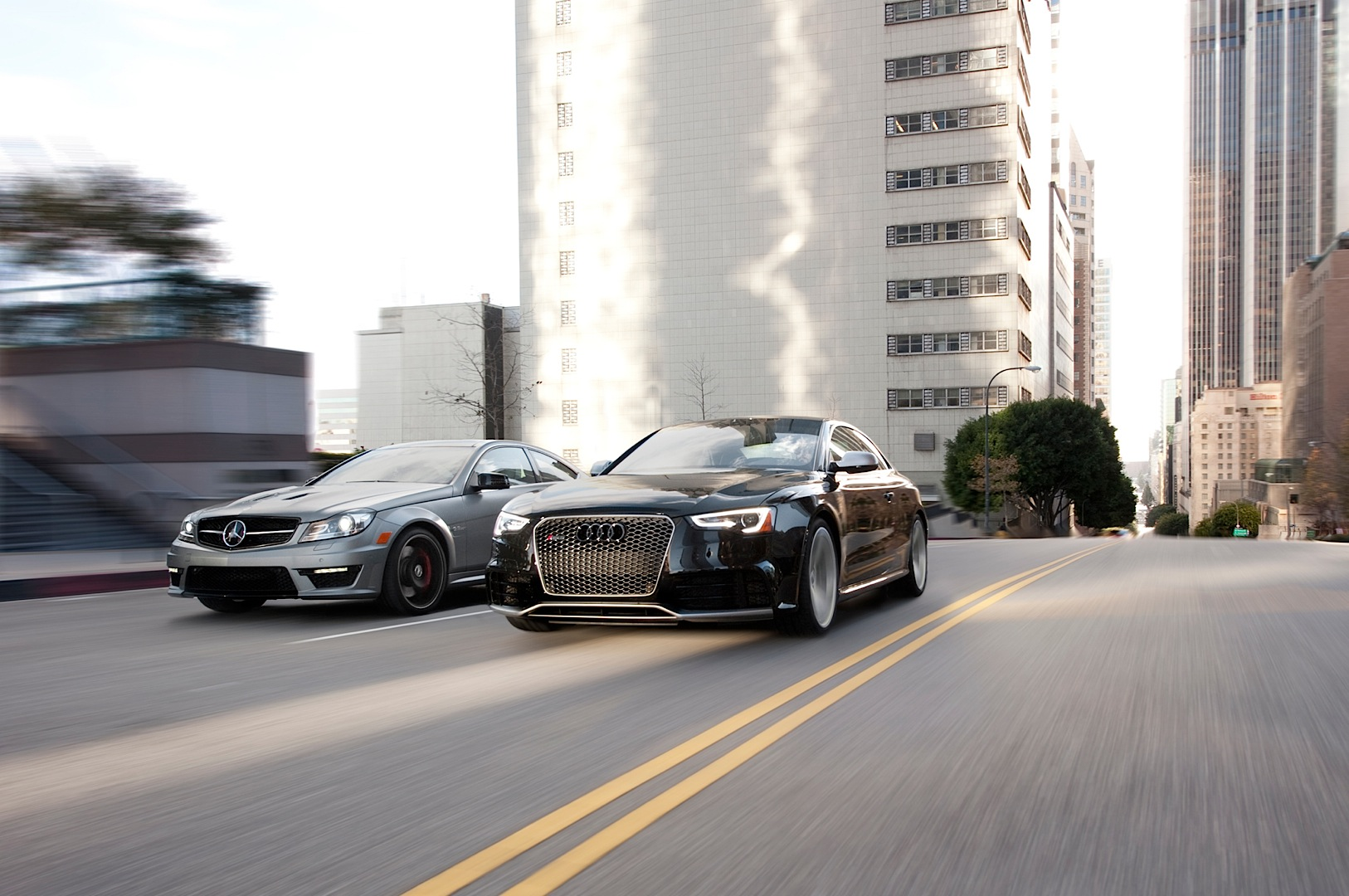 Mercedes Benz C 63 Amg Coupe Edition 507 Vs Audi Rs5