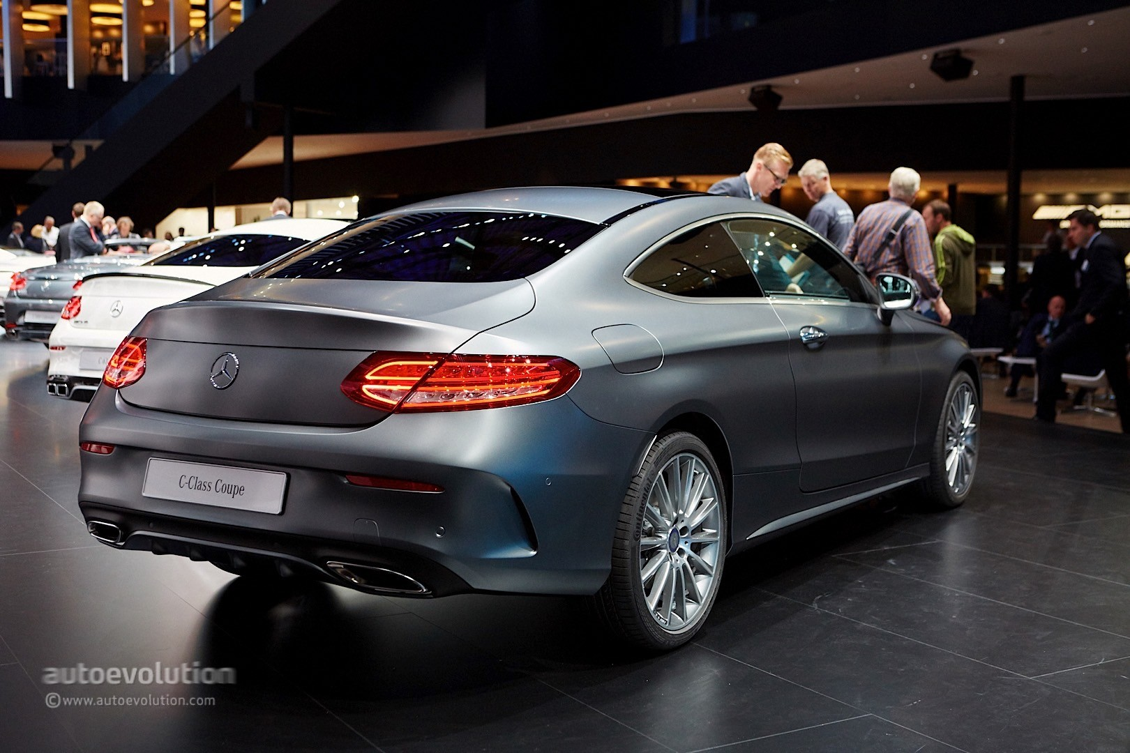Mercedes Benz C Class Coupe and C63 Coupe Bring Sloped Roofline