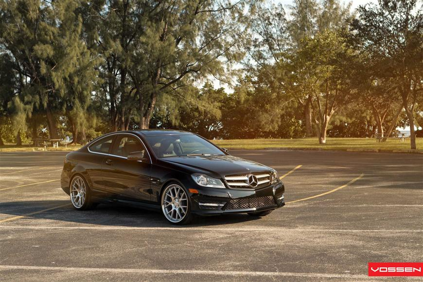 Mercedes Benz C Class Coupe Duo On Vossen Wheels