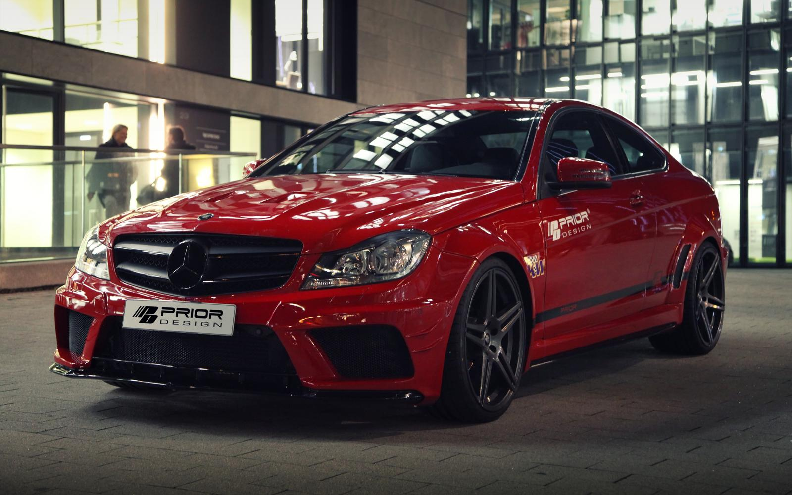 Mercedes benz c class coupe gets prior design wide body kit autoevolution - Mercedes c class coupe body kit ...