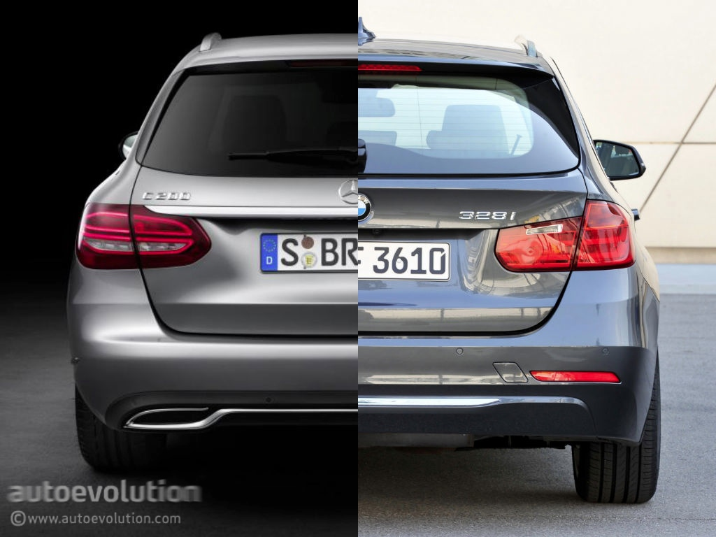 Mercedes Benz C Class Estate S205 Vs Bmw 3 Series Touring