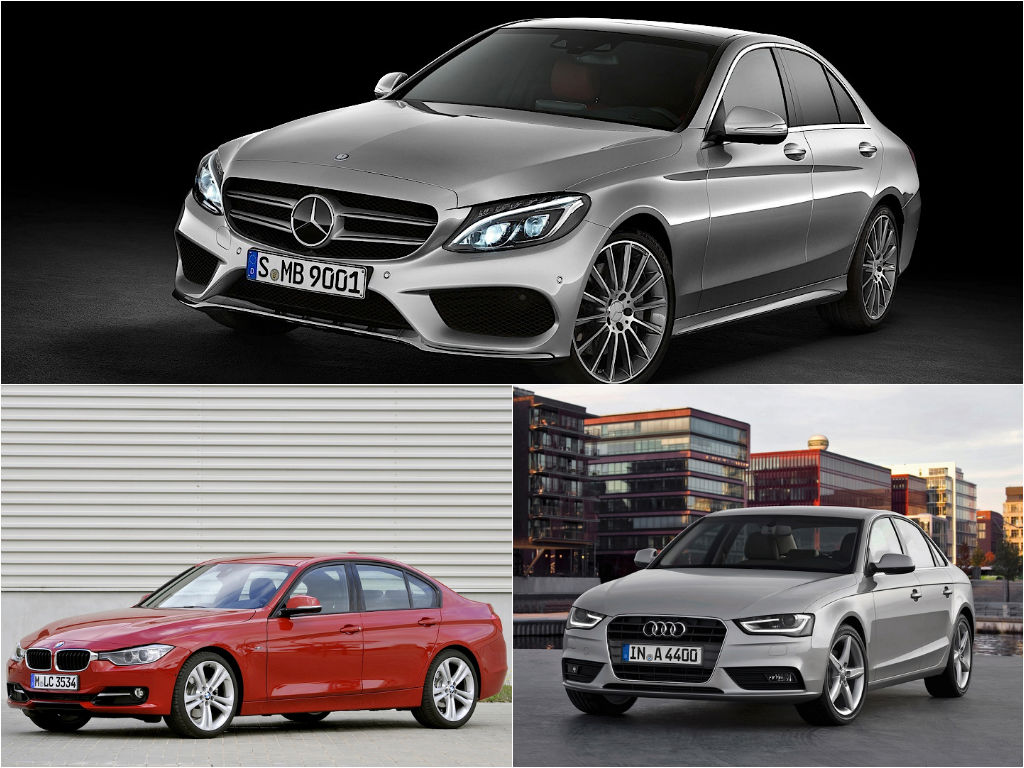 Mercedes benz c class w205 vs bmw 3 series f30 vs audi a4 for B series mercedes benz