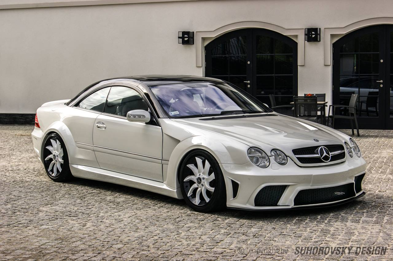 Mercedes Benz Cl W215 Dressed In Wide Body Kit From Poland Autoevolution