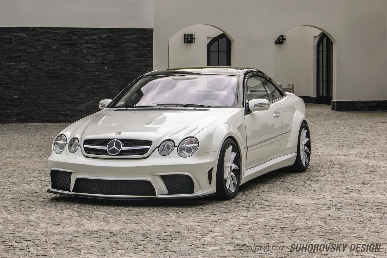 mercedes benz cl w215 dressed in wide body kit from poland. Black Bedroom Furniture Sets. Home Design Ideas