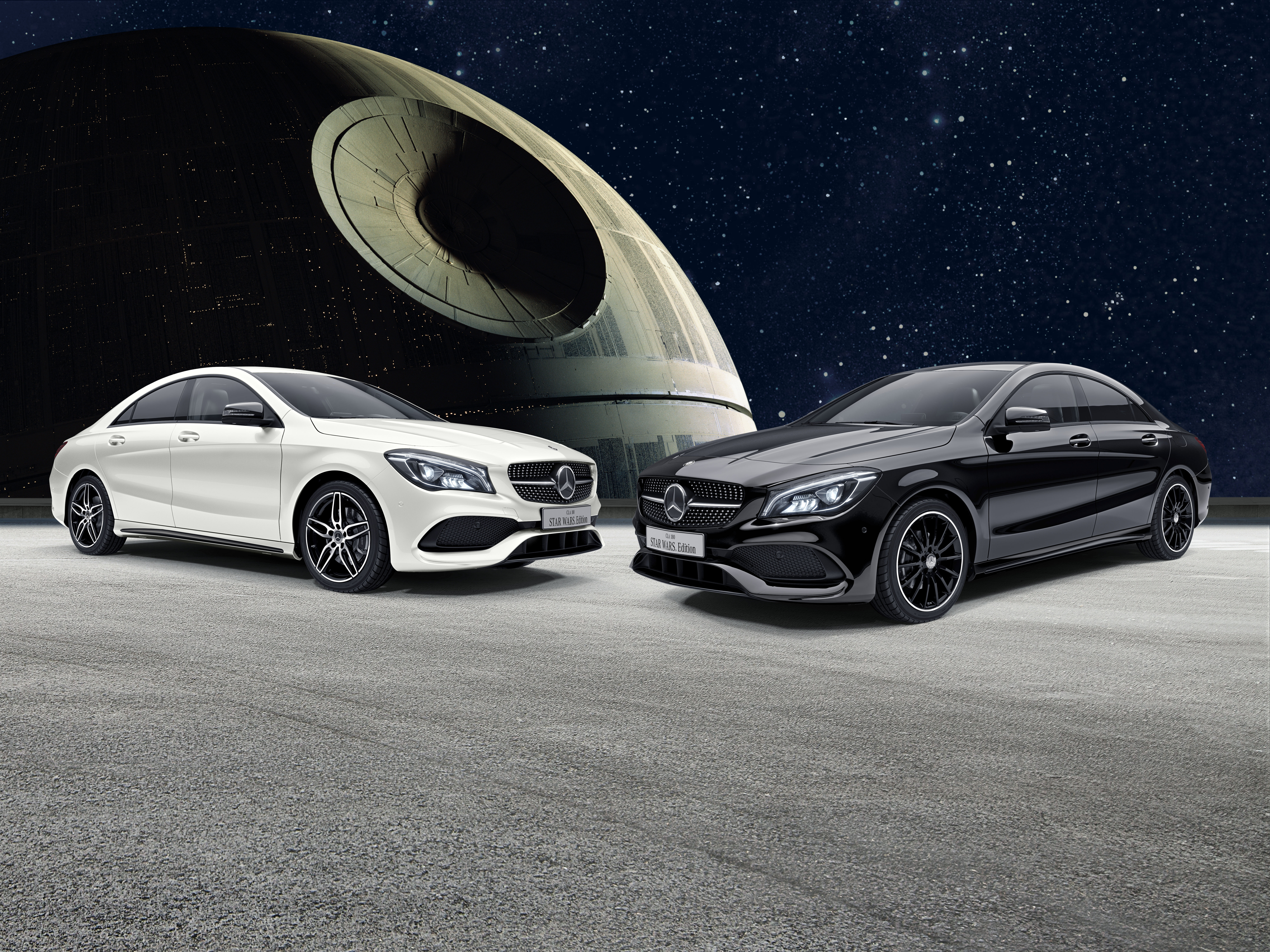 mercedes benz cla gets star wars themed special edition in japan autoevolution. Black Bedroom Furniture Sets. Home Design Ideas