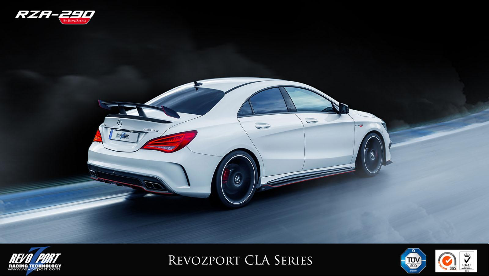 mercedes benz cla gets an actuated spoiler from revozport
