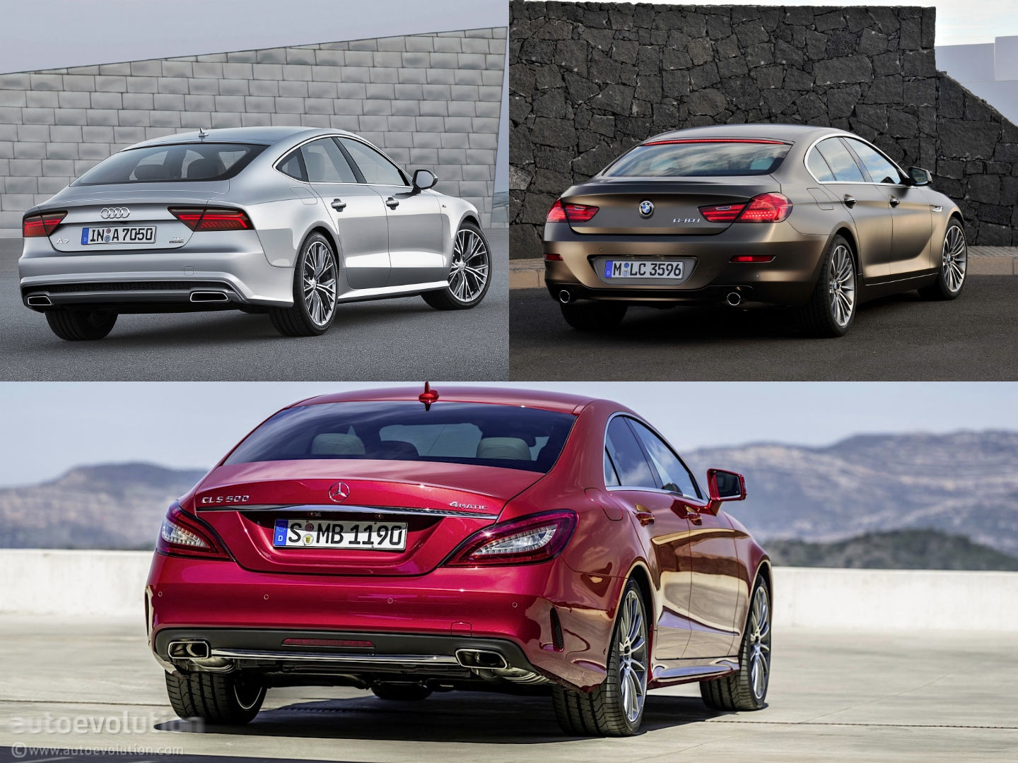 Mercedes benz cls vs audi a7 vs bmw 6 gran coupe design for Bmw mercedes benz