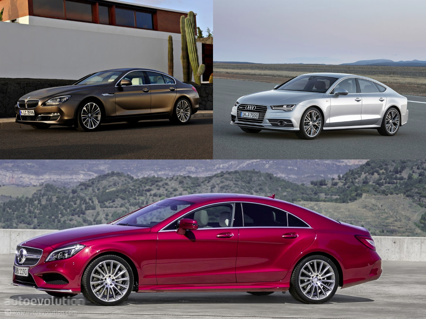 Mercedes benz cls vs audi a7 vs bmw 6 gran coupe design for Mercedes benz s series