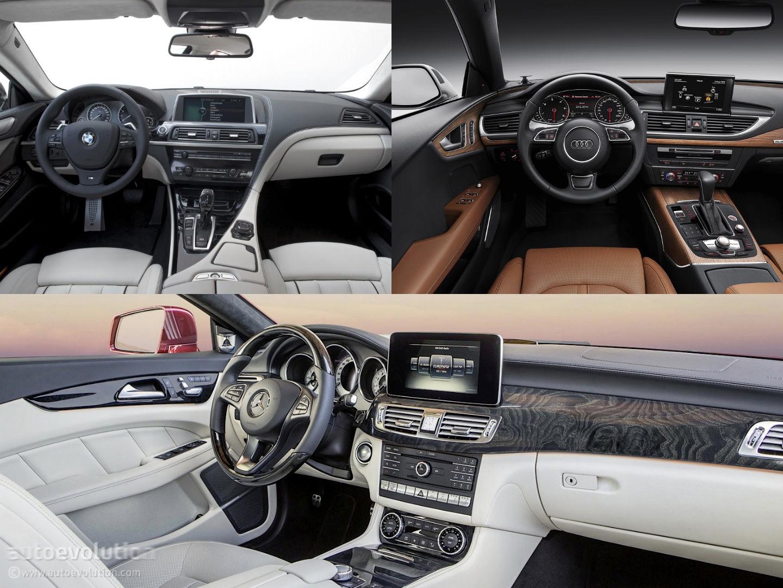 Mercedes Benz Cls Vs Audi A7 Vs Bmw 6 Gran Coupe Design Battle