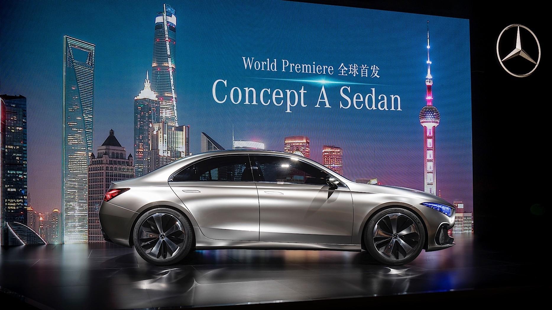 Mercedes benz concept a sedan previews future production for Mercedes benz sedan models