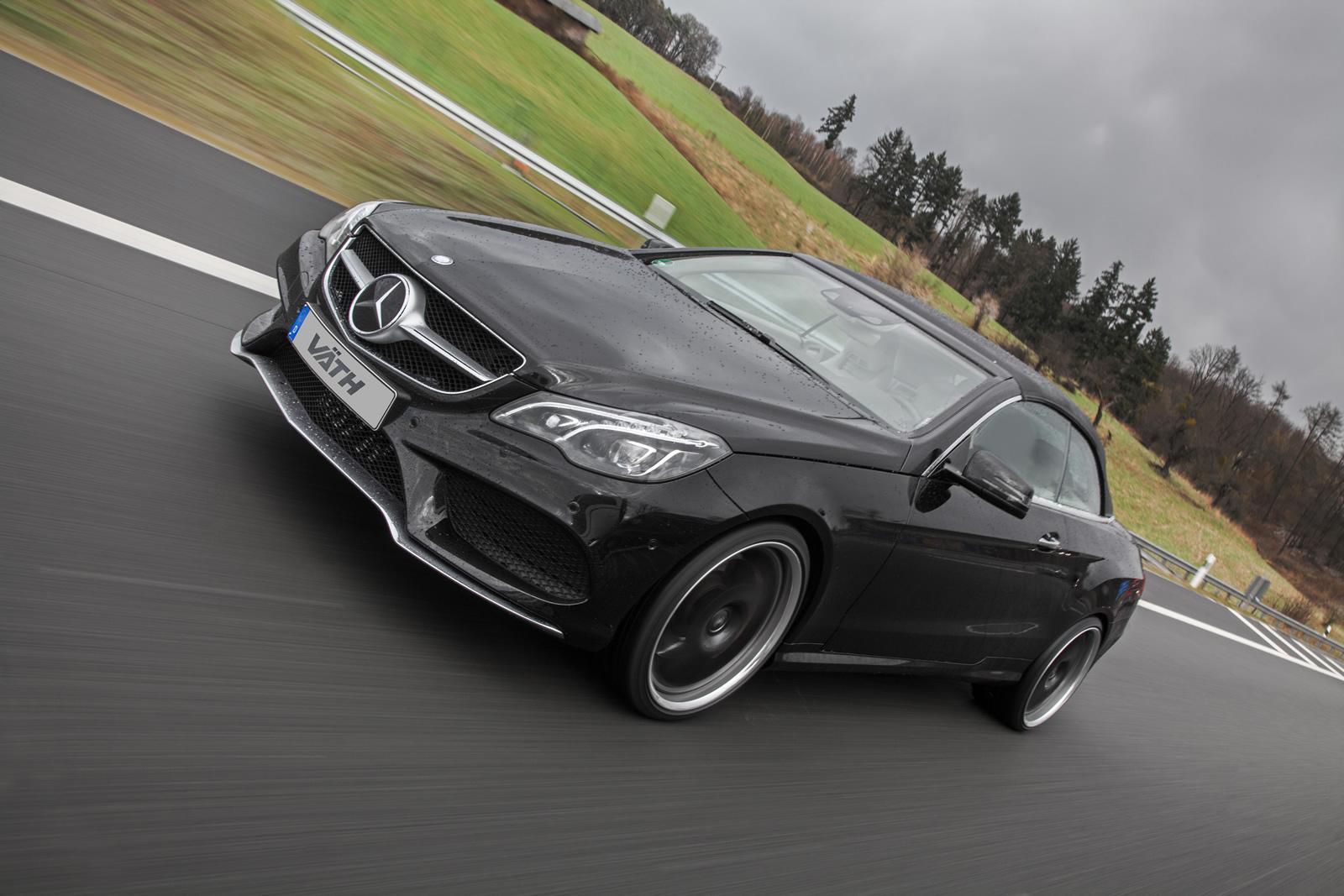 mercedes benz e500 cabriolet receives 550 hp from vath. Black Bedroom Furniture Sets. Home Design Ideas