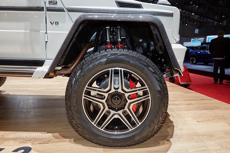 Mercedes Power Wheels >> Mercedes-Benz G500 4x4² Looks Larger Than Life in Geneva - autoevolution