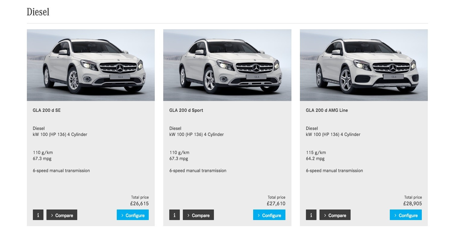 Mercedes benz gla facelift priced from eur 28 940 gla 45 for Mercedes benz list price