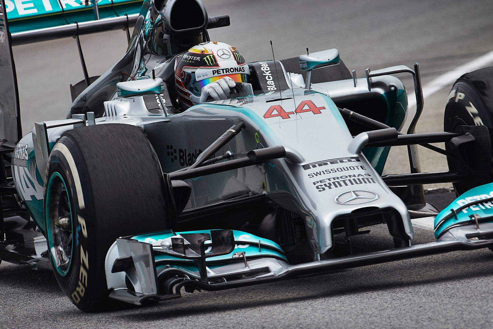 Mercedes benz has first one two finish in f1 in 58 years for Mercedes benz hat lewis hamilton