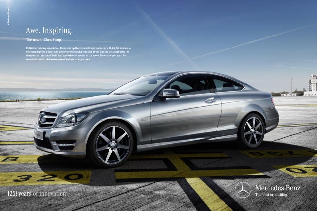 Mercedes benz launches c klasse coupe more style per hour for Comercial mercedes benz