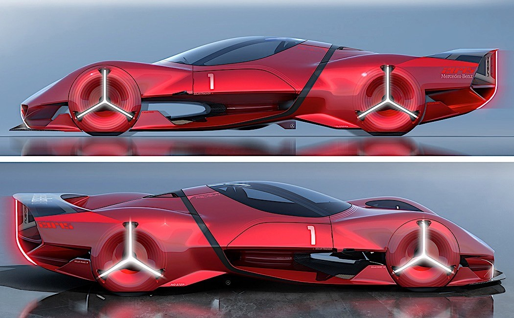 Mercedes-Benz Red Sun Design Concept Has Three Pointed ...
