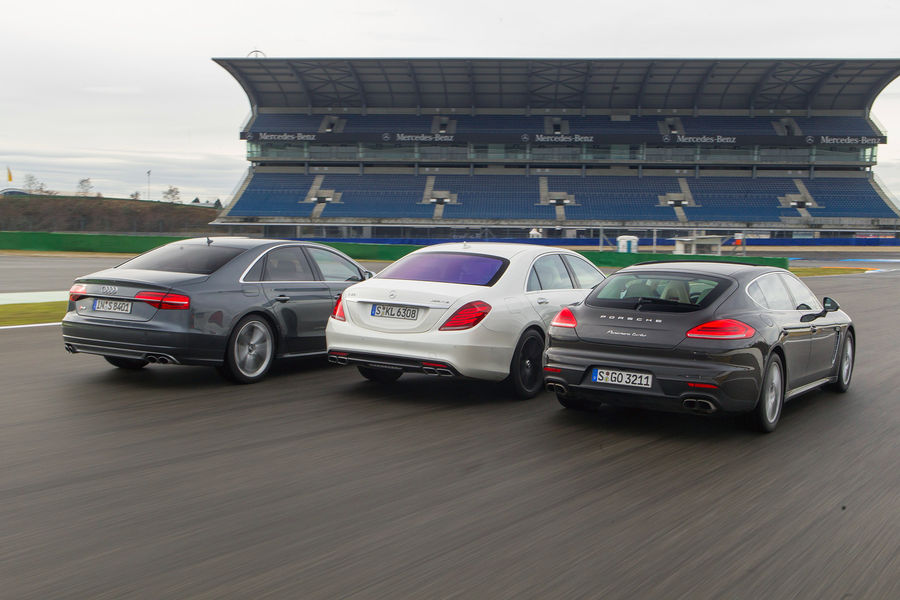 Mercedes Benz S 63 Amg 4matic Vs Porsche Panamera Turbo Vs
