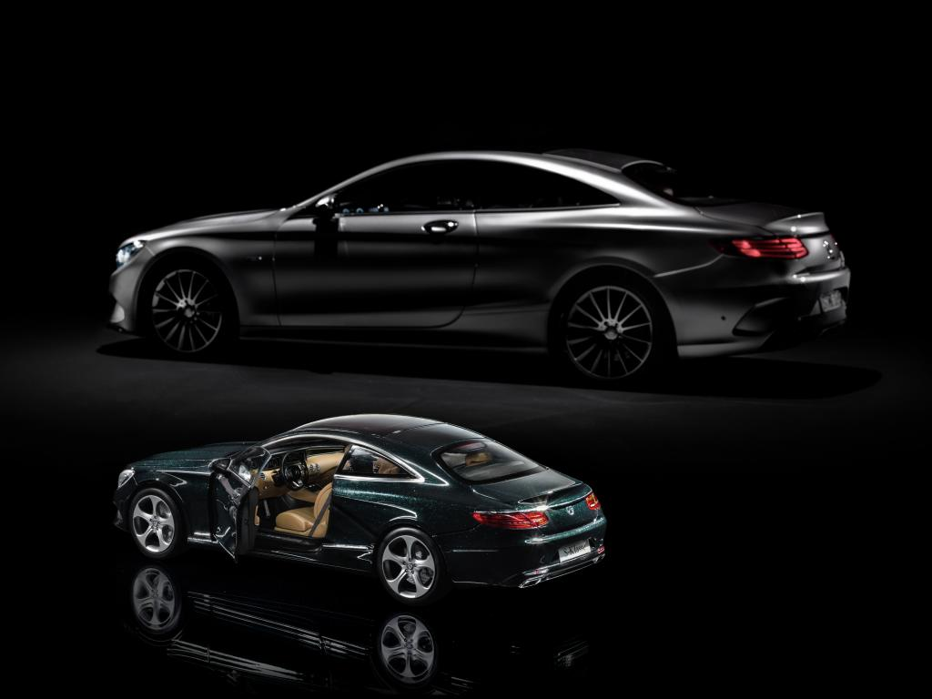 mercedes benz s class coupe gets shrunk by norev and iscale autoevolution. Black Bedroom Furniture Sets. Home Design Ideas