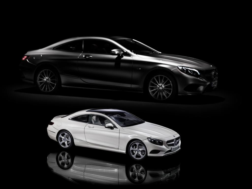 Mercedes benz s class coupe gets shrunk by norev and for Mercedes benz coupe models