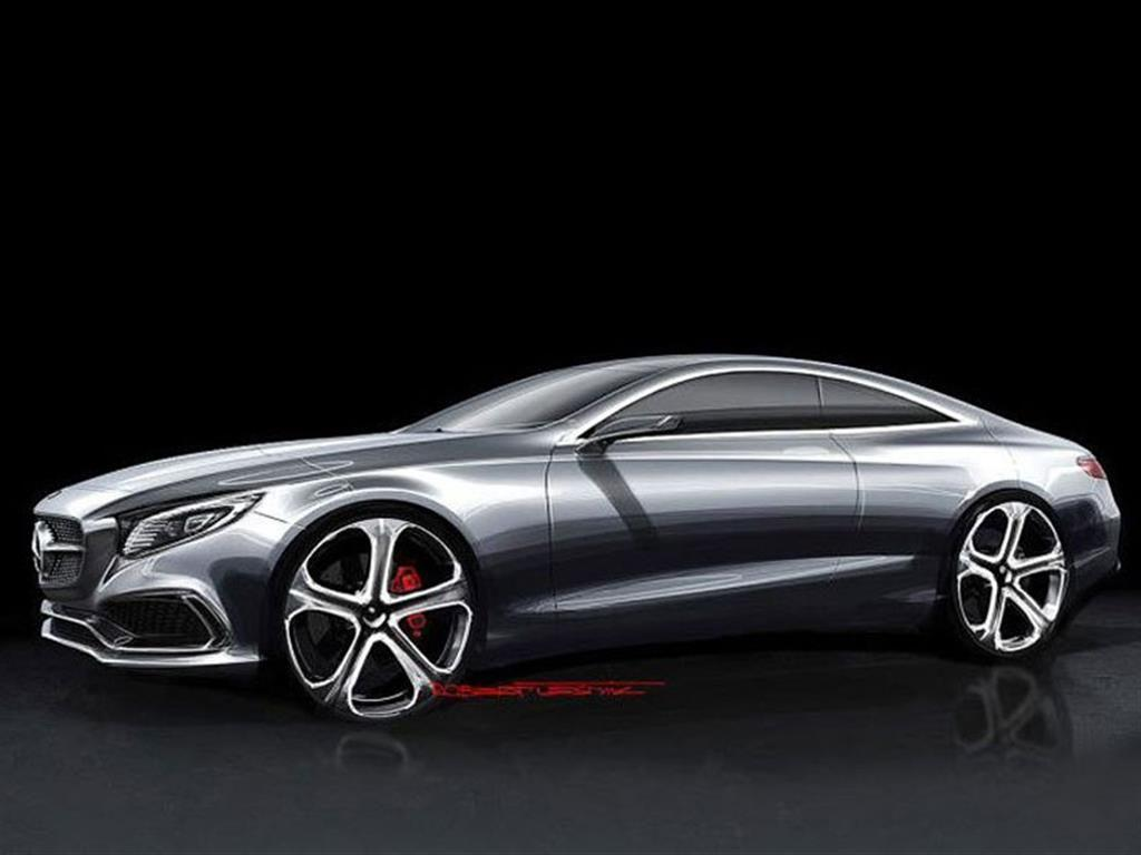mercedes benz s class coupe sketches surface autoevolution. Black Bedroom Furniture Sets. Home Design Ideas