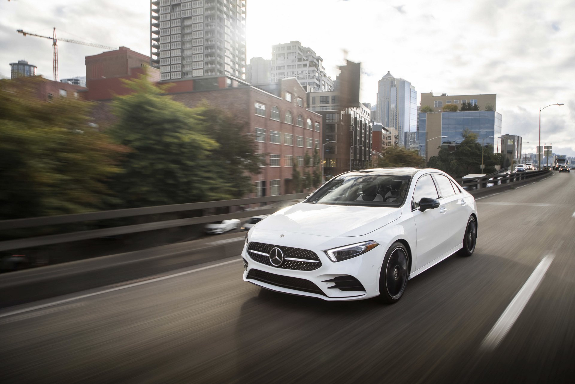 mercedesbenz showcases 2019 aclass sedan for us market