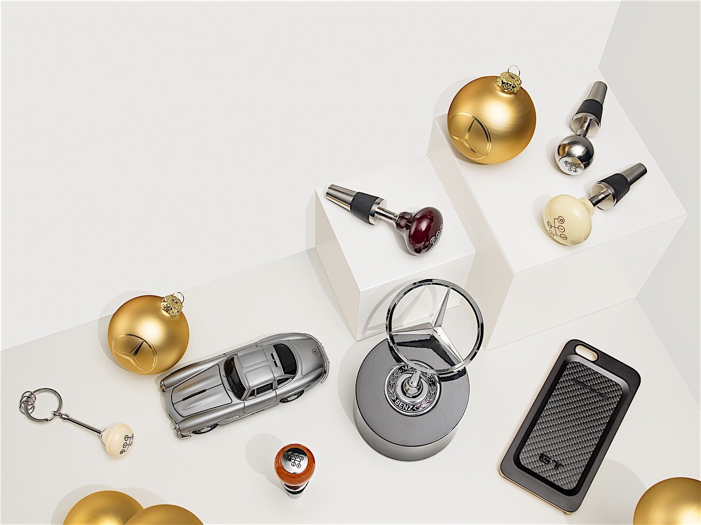 mercedes-benz tempts santa with a selection of gift ideas